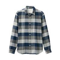 MUJI  无印良品 19AC779 男士格纹衬衫
