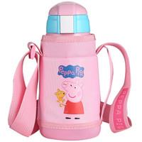 TAFUCO 泰福高 小猪佩奇系列 儿童双盖保温吸管杯 0.58L 粉色 *2件