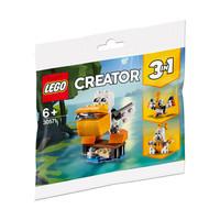 LEGO 乐高 拼砌包 30571 鹈鹕 6岁或以上 493颗粒 小型积木套装人偶 *5件