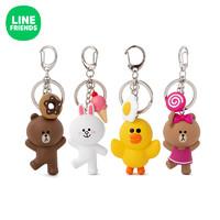 LINE FRIENDS 布朗熊钥匙扣挂件  动漫周边迷你可爱女生创意配件 *3件