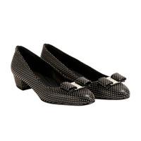 Salvatore Ferragamo 菲拉格慕 VARA 女士黑色羊皮革高跟鞋 0705473_1D _ 65