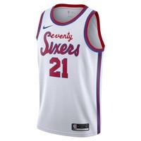费城 76 人队 (Joel Embiid) Classic Edition Nike NBA Swingman Jersey 男子球衣