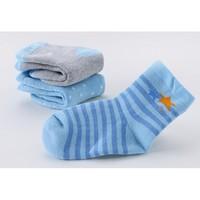 米乐鱼 儿童棉袜毛圈袜3双装