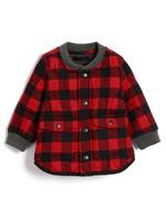Gap 盖璞 婴儿 圆领格子长袖棉服