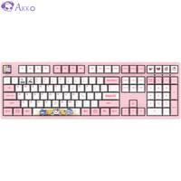 AKKO 3108 Bilibili World机械键盘  108键 吃鸡键盘  粉色  粉轴