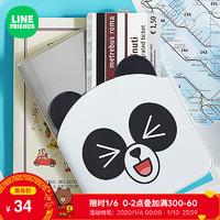 LINE FRIENDS胖友护照夹透明多功能卡包收纳卡通动漫可爱时尚配饰 *3件