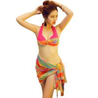 夏客 s5205 女士比基尼泳衣三件套