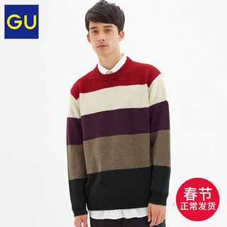 GU 极优 317509 男款拼色针织衫