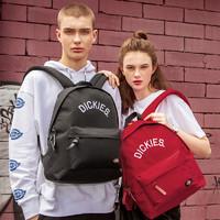 Dickies纯色刺绣双肩包男女背包字母包包女开学学生书包D-C020