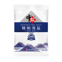 中盐 加碘精制海盐 食用海盐 500g *25件