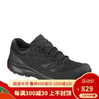 萨洛蒙(Salomon) 男款户外轻便防水徒步鞋OUTline GTX 黑色404770 UK9(43 1/3)