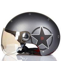 BEON复古摩托车头盔男女四季半盔覆式电动机车安全帽可爱夏季冬季保暖可选配护耳