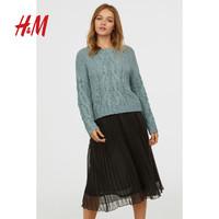 HM DIVIDED女装冬季款 宽松休闲洋气粗线针织套衫 0636096