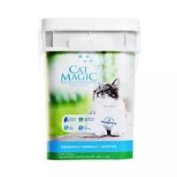 CatMagic喵洁客益生菌进口矿物土猫砂去异味结团猫砂无粉尘洋甘菊香型30磅 *3件