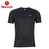 Marmot/土拨鼠男士户外透气速干吸汗短袖T恤