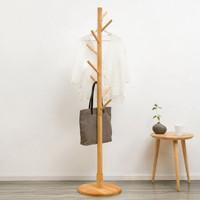 淘之良品简易衣帽架实木落地衣架室内卧室办公立式挂衣架置物架