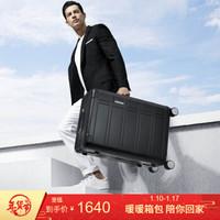 美旅金属拉杆箱2019新品 全铝镁合金属行李箱男 飞机万向轮静音登机箱旅行箱女TI2 黑色 20英寸