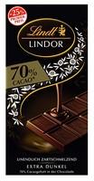 Lindt Lindor Promotiontafel 70% 巧克力