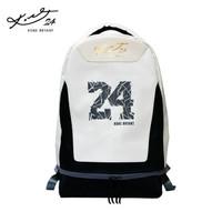 联想 球星KOBE 签名定制 双肩篮球包背包 黑白 NBA湖人客场版