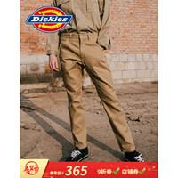 Dickies19SS 撞色压线油漆工装裤 男士休闲长裤子 DK000991 VC复古卡其色 36/180