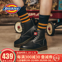Dickies马丁靴工装靴女靴 平底短靴英伦真皮高帮厚底 *2件