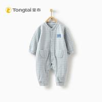 童泰婴儿衣服对开哈衣男女宝宝3-18个月连体衣 蓝色 66cm *6件