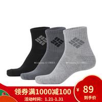 Columbia/哥伦比亚户外19新品秋冬男女同款运动袜(三对装)LU0419 031 L