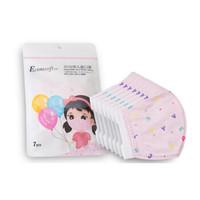 宜舒 3D儿童卡通口罩 3-7岁 7枚*2包 女童