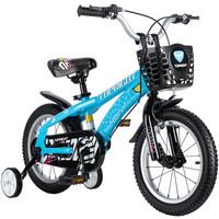 途锐达(TOPRIGHT)儿童自行车 男孩单车 脚踏车4/6/8岁小孩玩具车平衡车滑步车电动车 经典版蜘蛛侠 蓝色 14寸