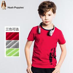 暇步士童装男童夏季纯棉时尚印花圆领衫