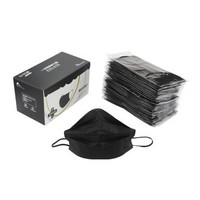 預售:棉柔世家 一次性口罩防塵顆粒物 四層無菌防塵透氣獨立包裝50只/盒 黑色