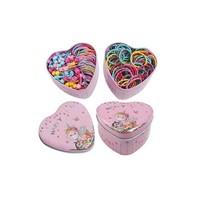 淘可拉 韩国盒装儿童彩色发绳100根+勾发针