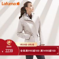 LAFUMA乐飞叶女士户外三合一中长防水抓绒冲锋衣两件套 冲锋衣三合一女 LFJA8CZ95 浅灰色G1 42