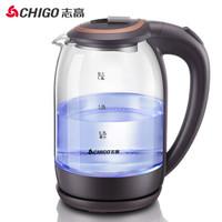 志高 电水壶 高硼硅玻璃电热水壶1.8L烧水壶 ZD-1818 *2件