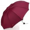 天堂伞10K伞骨超大男女通用双人晴雨三折叠加大两用商务雨伞 3311E 酒红色