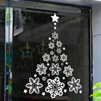 圣诞节装饰品玻璃贴纸橱窗贴