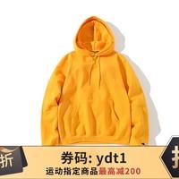 Champion/冠军 经典袖标套头卫衣帽衫 S700-黄色