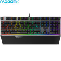 雷柏(Rapoo) V720S 机械键盘 108键RGB背光键盘  黑色 黑轴