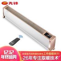 先锋(SINGFUN)踢脚 铝翅片智能控温 移动地暖家用办公遥控加热器DTJ-T3