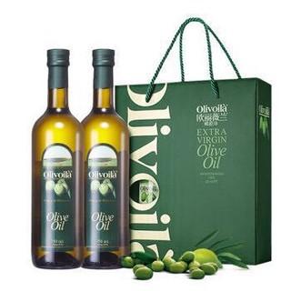 欧丽薇兰 橄榄油 礼盒 750ml*2  炒菜食用油橄榄油    中式烹饪 橄榄油