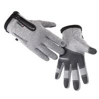 防水加绒保暖手套 骑行健身运动手套 电动车摩托车手套 灰色L
