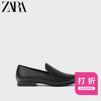 ZARA 新款 男鞋 黑色质感莫卡辛鞋船鞋 15600002040