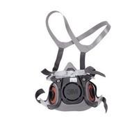 3M 6200 防毒面具 有机蒸气防护面罩 防喷漆防雾霾化工尘面具 半面型防护面具(中号)/[1个]