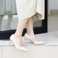 网易严选 凡尔赛典雅牛皮高跟女鞋 黑色 39码+凑单品