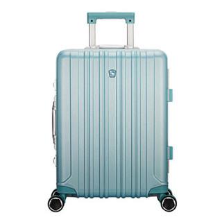 爱华仕(OIWAS)新品行李箱女5英寸大容量商务旅行箱6559 薄荷绿色拉丝 25英寸