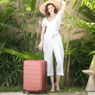 美旅拉杆箱 时尚轻便旅行箱静音耐磨万向轮TSA密码箱行李箱 29英寸托运箱 TE6嘉年红