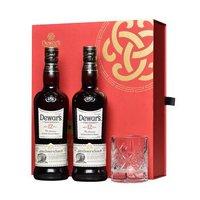 再降价:帝王(Dewar's)洋酒 二次陈酿威士忌12年调配苏格兰威士忌 新年礼盒700ml 送玻璃杯 *3件