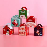 巧心师圣诞节平安夜苹果包装盒纸盒创意卡通礼品平安夜苹果礼盒糖果盒3个装 *2件