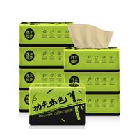 植护 功夫本色系列 黑绿包装抽纸 3层100抽*8包