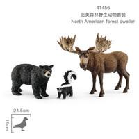 Schleich 思乐 SCHC14713 野外动物系列 玩具模型 儿童玩具收藏 北美森林野生动物套装41456